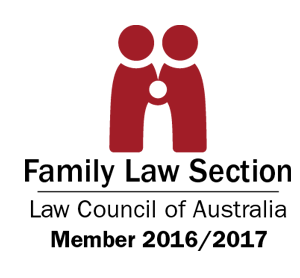 Logo for the Family Law Section of the Law Council of Australia - of which we are a member