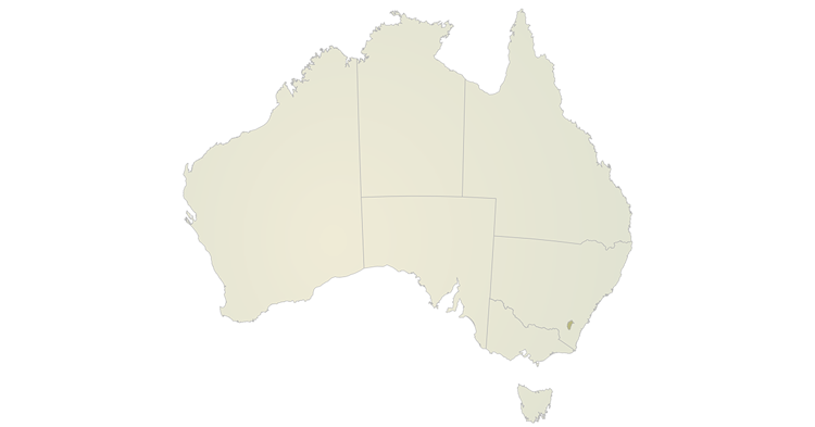 A map of Australia highlighting the Australian Capital Territory